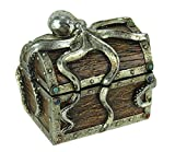 De Leon Collections Guardian Octopus On Deep See Treasure Chest Trinket Box
