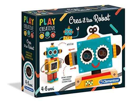 Clementoni- Play Creative-Crea Il Tuo Robot Gioco, Multicolore, 15262