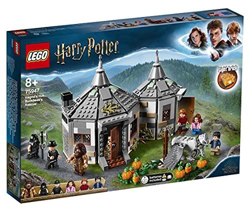 LEGO HarryPotter LaCapannadiHagrid:IlSalvataggiodiFierobecco, Playsetcon la Figura dell'Ippogrifo, Idea Regalo per Gli Amanti del Mondo della Magia, 75947