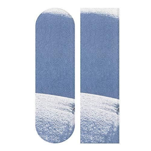 LIANGWE 33,1 x 9,1 Zoll Sport Outdoor Grip Tape Weiß Little Snow Rabbit Print Wasserdichtes Longboard Sandpapier für Dancing Board Double Rocker Board Deck 1 Blatt