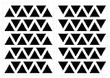 dekodino Pegatina de pared triángulos en negro 70 piezas juego decoración