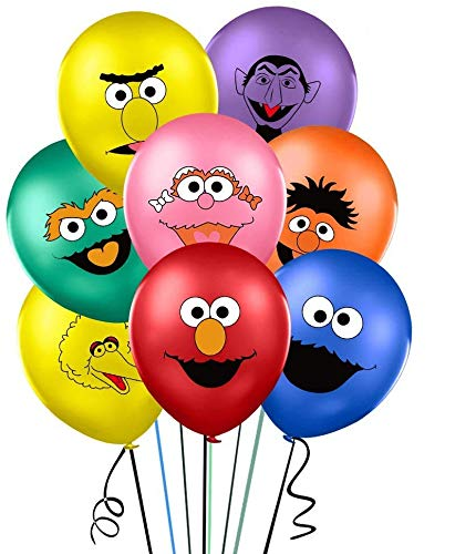 Sesame Inspired Balloons Party Supplies 12' Latex Balloon for Birthday Party Decorations, Birthday Backdrop