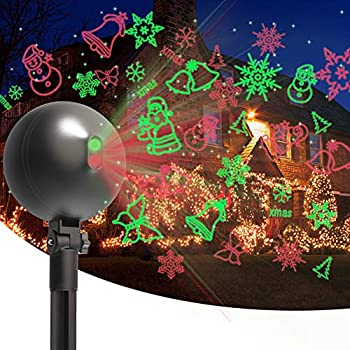 Christmas Laser Lights Projector Outdoor Lazer Projection Light Waterproof Projectors Led Landscape Spotlight Xmas Show Display for Holiday Decorations  Multi-Colored