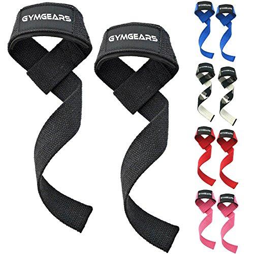 GYMGEARS Profi Zughilfen [Gepolstert] 60 cm für Krafttraining, Bodybuilding & Fitness - Für Frauen & Männer geeignet