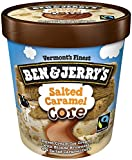 Ben & Jerry's - Vermont's Finest Ice Cream, Non-GMO - Fairtrade - Cage-Free Eggs - Caring Dairy - Responsibly Sourced Packaging, Salted Caramel Core, Pint (4 Count)