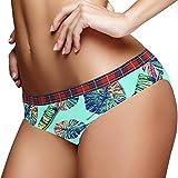 Lindo colorido Tropical Fish Hipster ropa interior de las mujeres calzoncillos de algodón suave de baja altura estiramiento bikini bragas para las señoras, Multicolor 05, L