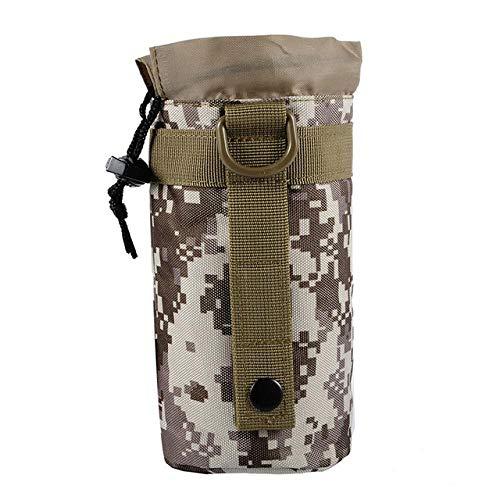 BAPDSB Bolsa de Botella de Agua táctica Sistema Molle Militar Bolsa de Caldera Camping Senderismo Viajes Supervivencia Kits Holder