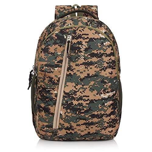 Wesley Army Print 16 inch 35 L Casual Waterproof Laptop Backpack/Office Bag/School Bag/College Bag//Unisex Travel Backpack (Green)