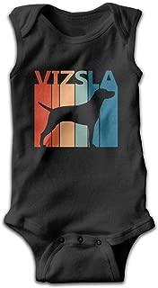 Toddler Funny Vizsla Puppy Dog Cartoon Sleeveless Baby Clothes Romper Jumpsuit 100% Cotton