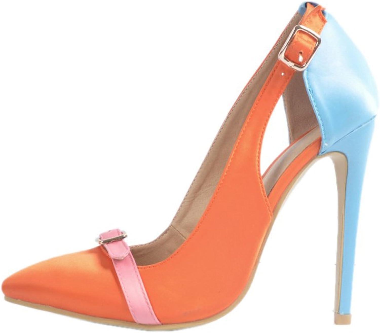 CASSOCK Women's High Heel Pumps Buckles Deco Simple Party Fashion Dress shoes