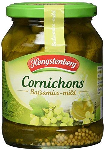 Hengstenberg Cornichons Balsamico-mild, 6er Pack (6 x 330 g)