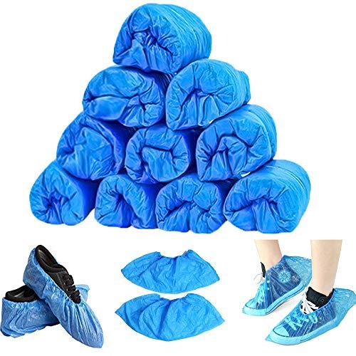 Mydio Paquete de 100 fundas desechables para zapatos, impermeables, antideslizantes, para proteger el suelo, talla única (100)