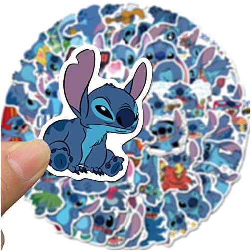Stitch Stickers Waterproof Vinyl Scrapbook Stickers Car Motorcycle Bicycle Luggage Decal 50pcs Pack (Stitch)  