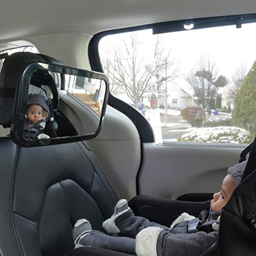 Evelots Baby Backseat Car Mirror-View Child Rear/Front Facing-Attach to Headrest