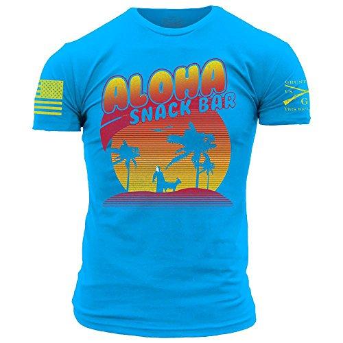 Grunt Style Aloha Snackbar 2.0 Men's T-Shirt, Color Blue, Size XX-Large