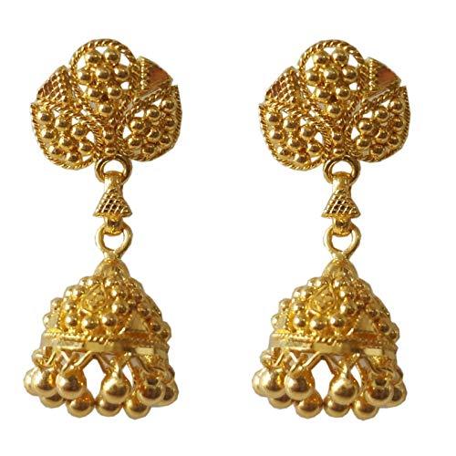 Certified Indian Handmade Solid 22K/18K Stamped Fine Gold Earrings