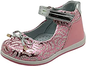Apakowa Bowtie Toddler Girls Flat Shoe Genius Leather Lining with Arch Support (Color : Pink, Size : 8 M US Toddler)