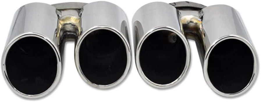 per Porsche Panamera nel 2014-2016 ZHHRHC/Acciaio Inossidabile Ruota Posteriore per Auto Doppio Tubo Tubo di Scarico Silenziatore di Coda Decorativo Gola di Coda Ricambi Auto Testa di Scarico