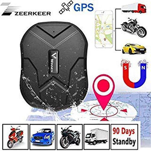 ZEERKEER GPS Tracker Seguimiento en Tiempo Real posicionamiento Doble Mode gssm/GPS Dispositivo de localización de Alquiler de Coches, un camión, Moto congelador, Barco etc