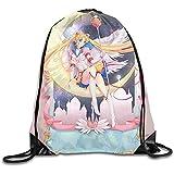 Medsforu Sailor Moon Pintado A Mano Arte Mochila De Viaje con Tendencia Mochila con Cordón