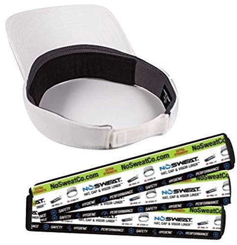 No Sweat Visor Hat & Cap Liner - Moisture Wicking Sweatband Prevent Sweat Stains Hyperhidrosis