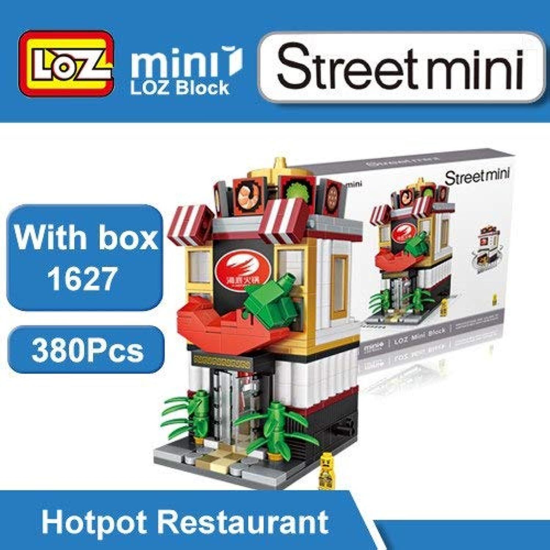 Generic LOZ Mini Street Town Pizzeria Sushi Bar Ice Cream Shop Restaurant Building Blocks Figure Toy for Ages 6+ Offical Authorized 10cm LOZ 1627