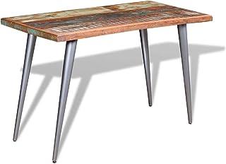 vidaXL Table de Salle à Manger Cuisine Bois de Récupération 120 x 60 x 76 cm