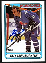 Guy Lafleur Autographed Memorabilia 1990-91 Topps Card #142 Quebec Nordiques 150170 - Certified Authentic