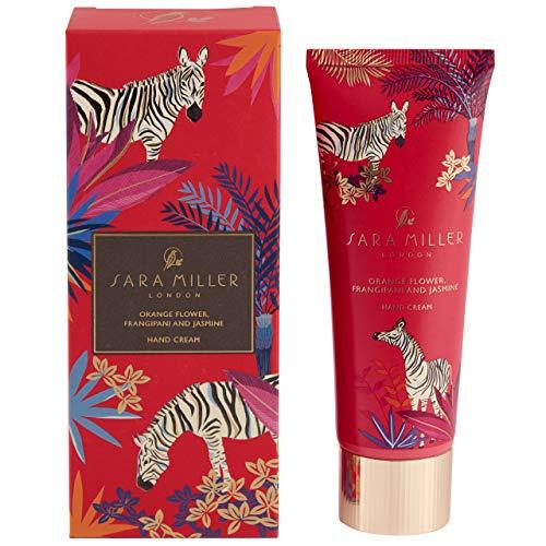 Sara Miller Beauty Everyday Crème pour les mains dans un coffret cadeau avec fleur d'oranger, frangipanier et jasmin, rouge, 0,12 kg, FG8430