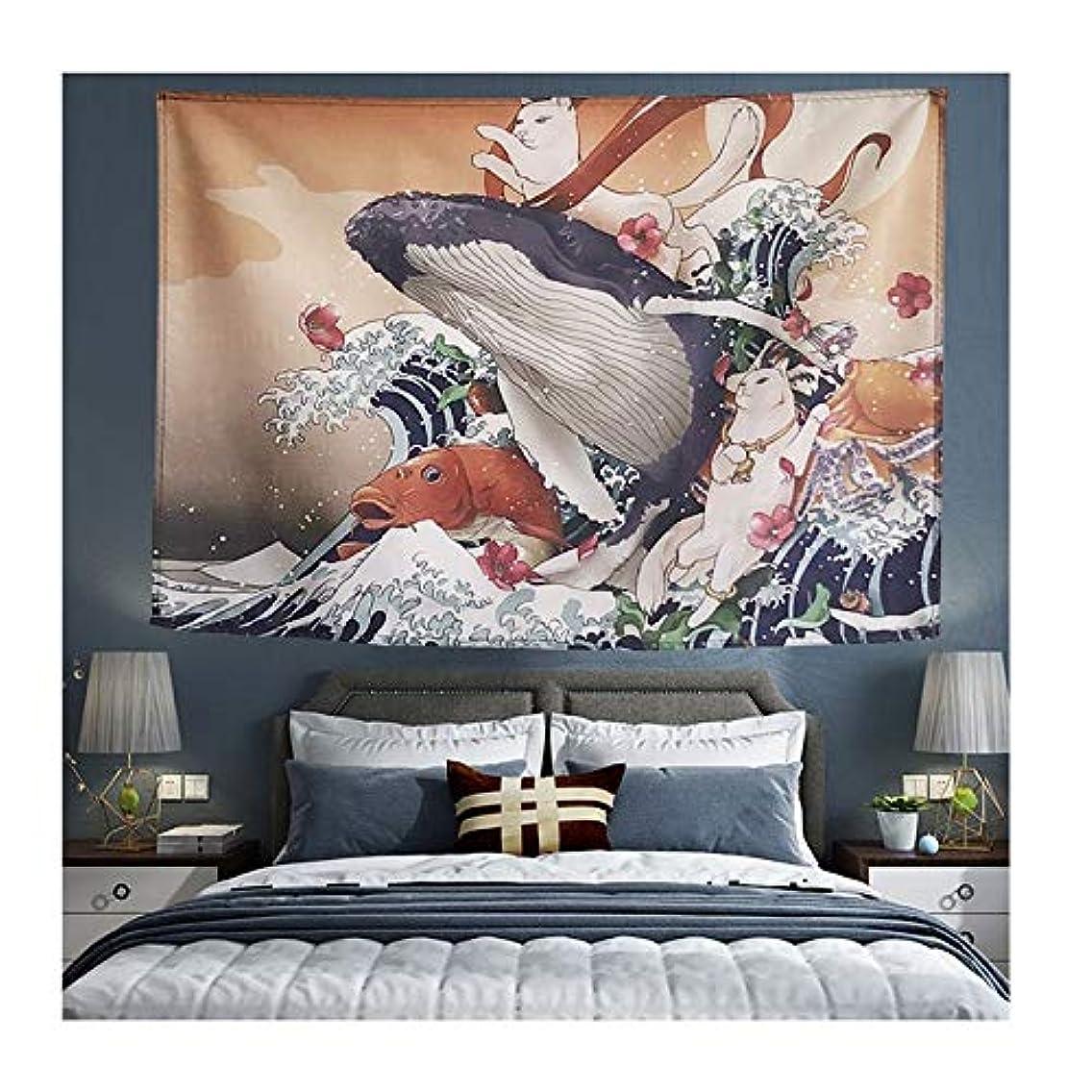 フェデレーション用量到着レトロな装飾的なタペストリーアニメ吊り寮の寝室の壁装壁アートタペストリー-190CM×125CM NTWXY