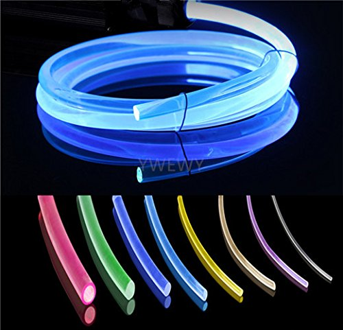 3.28ft PMMA Plastic Optic Fiber Side Glow Cable for Car LED Light Source (0.06in)