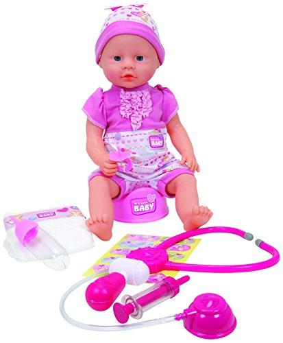 Simba 105032355 - Bambola New Born Baby Bebè Visita Medica, 38 cm