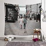 Rue Imprimé Tenture murale Tapisserie Impression Polyester Tissu...