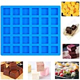 30 Cavity Rectangle Caramel Candy Silicone Molds Chocolate Truffles Mold Whiskey Ice Cube Tray Grid Fondant Mould Hard Candy Mold Pralines Gummy Jelly Mold Blue