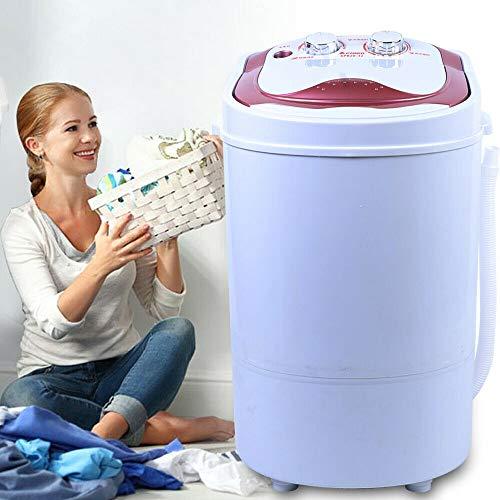 6KG Mini Waschmaschine Single Reise Waschautomat 54x35x34cm Tragbar Kleine Wäsche Machine Campingwaschmaschine mit Schleuder für Singles, Studentenhaushalte, Camper