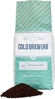 Cold Brew Lab ORGANIC COARSE GROUND Coffee, Crafted for Cold Brewing, Dark Roast Colombian Supremo, 2 LB Bag