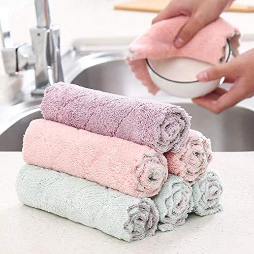 HONGIRT - Juego de 3 paños de cocina de microfibra superabsorbentes de alta eficiencia, para limpieza del hogar, toalla de cocina, accesorios de cocina