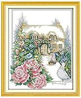 クロスステッチ刺繍キット 図柄印刷 初心者 ホームの装飾 刺繍糸 針 布 11CT Cross Stitch ホームの装飾 春の庭 40X50CM