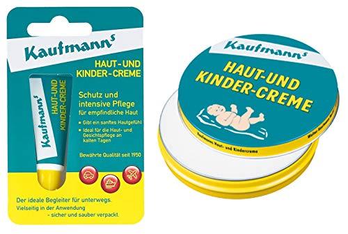 Kaufmanns Haut- und Kindercreme Duo, Tube (10ml) + Dose (30ml)