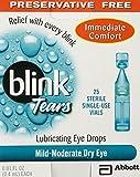 Blink Tears Sterile Single Use Vials, 25 Count, 0.01 Fluid Ounce Each