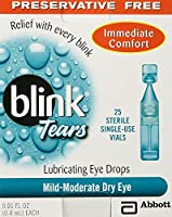 Blink Tears Sterile Single Use Vials, 25 Count, 0.01 Fluid Ounce Each by AMO SALES AND SERVICE