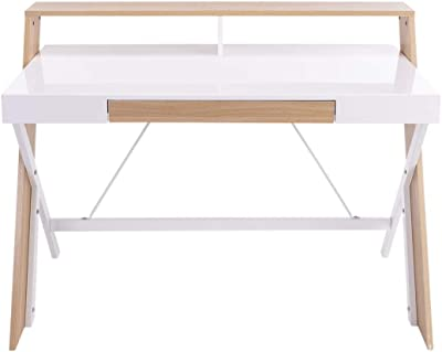 Mueble TV Modelo Luke H1 (100x32cm) Color Blanco Negro con Patas ...