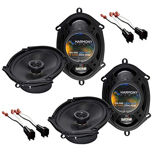 Harmony Audio Bundle Compatible with 2001-2012 Ford Escape (2) HA-R68 5x7 6x8 New Factory Speaker Replacement Upgrade Package 225W Speakers with HA-725600 Speaker Replacement Harness