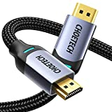 【Ultimate High Speed】Premium and easy-to-use ultimate high speed 8K HDMI cable could arrive 7680x4320P at 60Hz. Its HDMI 2.1 port brings 48gbps transmission quantity, and super clarity for view without any lagging. Great for watching blockbusters on ...