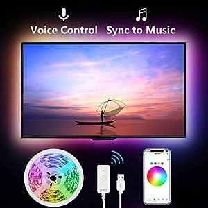 Gosund Tira Led Wifi USB para TV/Gaming, Sincronizar con Música, Compatir con Alexa/Google, Luces LED RGB Inteligente con 8 Modo Escena/Multicolor y Brillo Ajustable, IP65-Impermeable, Anti-UV, 2.8Mts