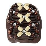 JUSTFOX - Trend African Hairclip Haarklammer Haarkamm Blüten Holzdesign Butterfly