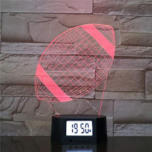 Optische Illusion 3d Lampe Nacht Lampe Wecker Basis American Football 7 Farben Ändern 3d Led Tischleuchte Für Schlafzimmer Schlaflampe Home Decor Art Decor Kinder Touch Button