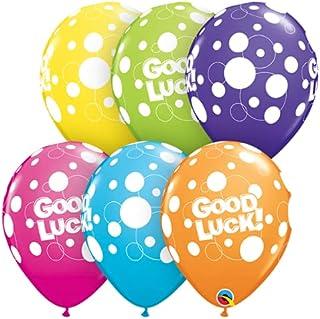 Qualatex Good Luck Dots Printed Latex Balloons 6-Pieces