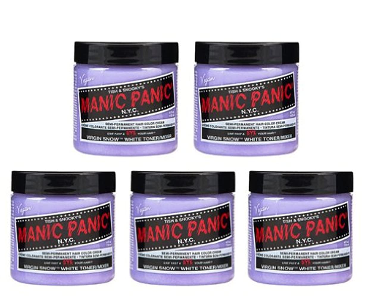 視線スリルマンモス【5個セット】MANIC PANIC マニックパニック Virgin Snow (ヴァージン?スノー) 118ml