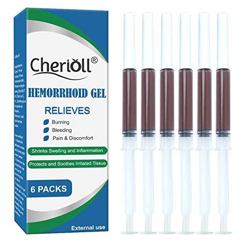 Hemorroides, Pomada para las Hemorroides,Hemorroides y Gel De fisura, Picazón Con Crema de Alivio Rápido, Fisuras anale 6Pcs)